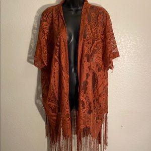 Emerette Copper Lace Kimono size medium